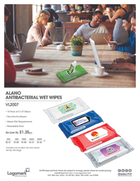 VL2007 Antibacterial Wipes