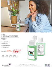 VL2013 2oz. Sanitizer